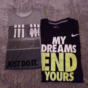 2 Nike dryfit t shirts, men's sz M